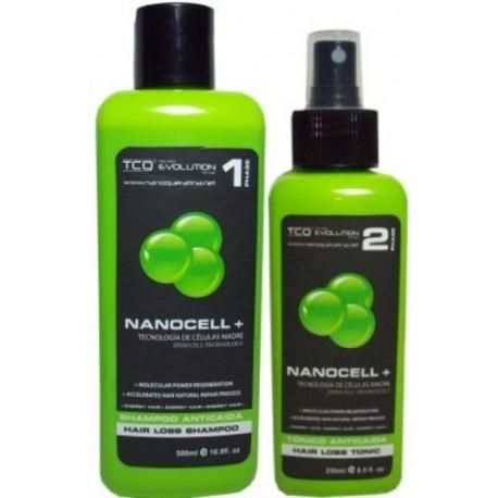 TCQ NANOCELL Hair Loss Kit (1)Shampoo 500ml (1)Tonic 250ml (UNISEX)