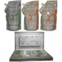 TCQ Relaxer NSS Kit para cabello 100% natural 1000ml más Photon Care 12 ampollas