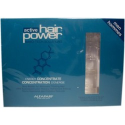 Alfaparf Active Hair Power Energy Concentrate Vials For Men.(6x0.33 oz.)Help Prevent Thinning Hair.