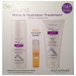 Alfaparf Semi Di Lino Shine & Hydration Treatment Gift Set (For Dry, Tangled Hair)
