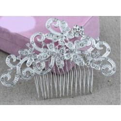 Peineta de Pelo Mariposa con Cristales Diamante Plateado Para Boda