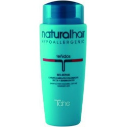 Tahe Natural-Hair Bio-Repair Champú 250 ml. Para Cabellos Coloreados, Secos y Dañados.