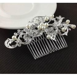 Peinilla de Diamante con Forma de Perla - Accesorio de Boda