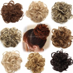 Women's Curly Messy Bun Hair Twirl Piece Scrunchie Wigs Extensions Hairdressing
