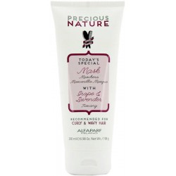 Alfaparf Precious Nature Mask With Grape & Lavender 200ml/ 6.98 Oz (Curly & Wavy Hair)