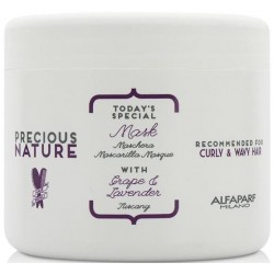 Alfaparf Precious Nature Mask With Grape & Lavender 500ml/17.46 Oz (Curly & Wavy Hair)