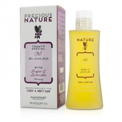 Alfaparf Precious Nature Oil with Grape & Lavender 100ml/ 3.38 Oz (Curly & Wavy Hair)