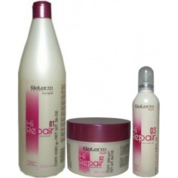 Salerm Hi Repair (1)Shampoo 1000ml -(1)Mask 250ml -(1)Finish 100ml - (Renewer Treatment with BotoxPlus Effect)