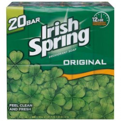 Irish Spring Deodorant Soap Original 3.75 oz. 20 ct.