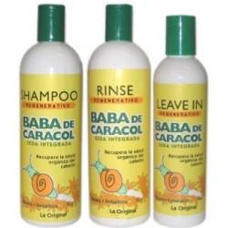 Halka Baba De Caracol (1)Shampoo 16 Oz (1)Rinse 16 Oz (1)Leave-In 9 Oz Regenerativos