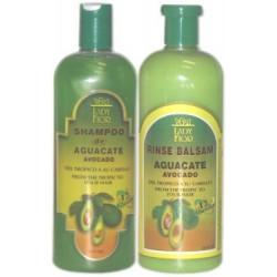 Lady Fior Avocado (1)Shampoo & (1)Rinse Balsam 16 Oz. -12 Vitamins