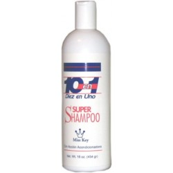 Miss Key 10 en 1 Super Shampoo 16 oz.(provides an extra conditioning to scalp)