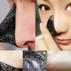 10PCS Mineral Mud Black Head Mask Remove Blackhead Pore Cleansing Strips (Color: Black)