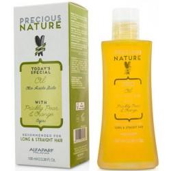 Alfaparf Naturaleza Preciosa Aceite para Dejar con Higo Chumbo (Nopal) y Naranja 100ml/3.38oz (Cabello Largo y Liso)