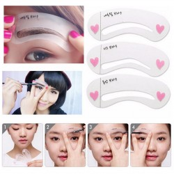 3 Pcs Eye Brow Class Drawing Guide Eyebrow Stencil Card Template