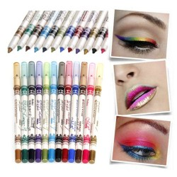 12 Colors Glitter Lip Liner/ Eye Shadow Eyeliner Pencil Pen Makeup Cosmetic