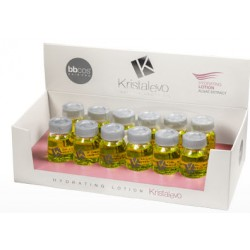 BBCOS Kristal Evo Hydrating Lotion Algae Extract 12x12ml (Linen Seed & Argan Oil)ng Shampoo, Smoothing Therapy 12oz