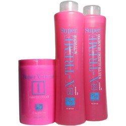 RG Cosmetics Keratin Super X-Treme Kit (Smooth Cream 1kg, Activator 32oz, Neutralizing 32oz)