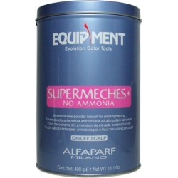 Alfaparf Equipment Supermeches+ NO AMMONIA 14.1 Oz. (Ammonia-free Powder Bleach for Extra Lightening)