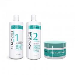 Unnique Advance Keratin Treatment Kit 1)Shampoo 32oz 1)Keratin 32oz 1)Mask 16oz.