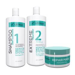 Unnique Extreme Keratin Treatment Kit 1)Shampoo 32 oz 1)Extreme Keratin 32oz 1) Mask 16 oz. (Step 2)