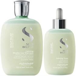 Alfaparf SDL Scalp Relief Calming Shampoo 250ml and Tonic 125ml (Sensitive Skin)