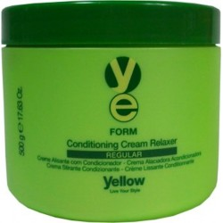 Yellow Form Conditioning Cream Relaxer REGULAR 500g /17.63oz