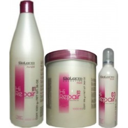 Salerm Hi Repair Kit -(1)Shampoo 1000ml -(1)Mask 1000ml -(1)Finish 100ml