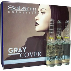 Salerm Technique Gray Cover (0.17 Fl. Oz. x 12 Vials)(For resistant gray covering)