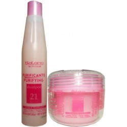 Salerm Technique Purifying Therapy (1)Shampoo (1)Emulsion (pink group)