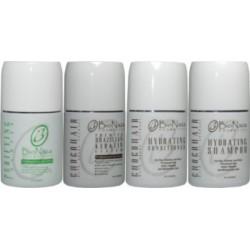 Bio Naza Grupo Chocohair (1)Purificante 8oz (1)Queratina ChocoHair 8oz (1)Champú Hidratante 8oz (1)Condicioner Hidratante 8oz