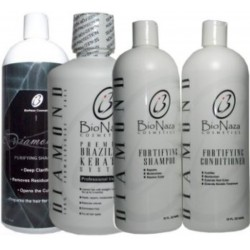Bio Naza Diamond Keratin Group 100% Formaldehyde Free 32oz (4 Items)