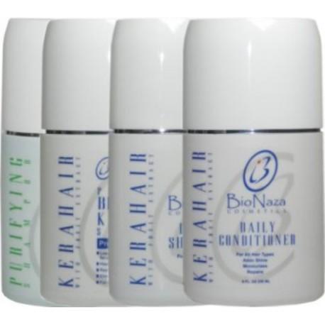 Bio Naza KeraHair Group 8 oz (1)Purifying 1)KeraHair Keratin 1)Daily Shampoo 1)Daily Conditioner
