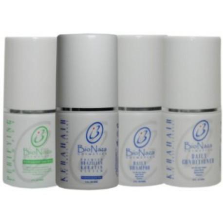 Bio Naza KeraHair Group 3 oz (1)Purifying 1)KeraHair Keratin 1)Daily Shampoo 1)Daily Conditioner