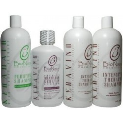 Bio Naza KeraVino Group 32 oz (1)Purifying 1)Keravino Keratin 1)Shampoo 1)Conditioner