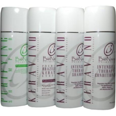 Bio Naza KeraVino Group 16 oz (1)Purifying 1)Keravino Keratin 1)Shampoo 1)Conditioner