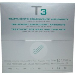 Echosline T3 Echos Herb Treatment for Weak and Thin Hair 12 Phials (Prevent Hair Loss)