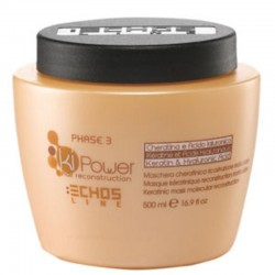 Echosline Ki-Power Keratinic Mask Hair Reconstruction 500ml/16.9oz (phase 3)