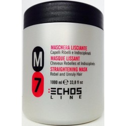 Echosline M7 Straightening Mask 1000ml/33.8oz (Rebel and Unruly Hair)
