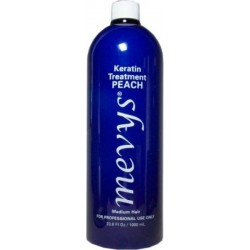Mevys Peach Keratin Smoothing Treatment 33.8 oz. (for medium hair and medium curls)