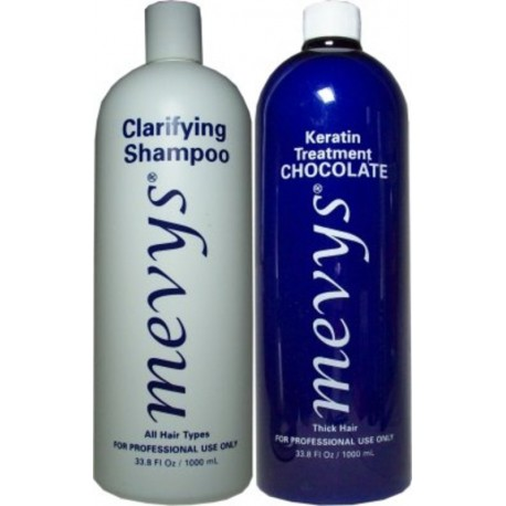 Mevys Queratina Chocolate Kit 1)Champú Clarificante 1)Queratina Chocolate 1000ml each