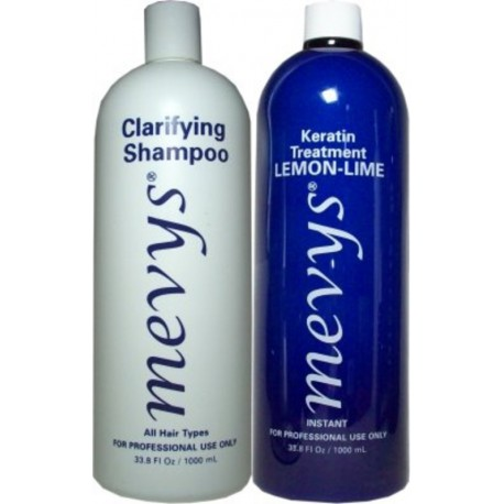 Mevys Lemon-Lime Keratin Kit 1)Clarifying Shampoo 1)Lemon-Lime Keratin 1000ml each