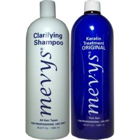 Mevys Original Keratin Kit 1)Clarifying Shampoo 1)Original Keratin 1000ml each