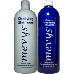 Mevys Peach Keratin Kit 1)Clarifying Shampoo 1)Peach Keratin 1000ml each
