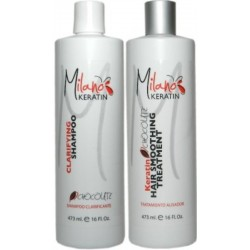 Milano Keratin Chocolate Kit 16oz (2 Items)