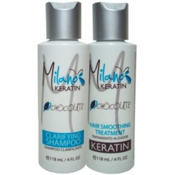 Milano Keratin Chocolate Kit 4oz (2 Items)