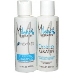 Milano Keratin Dolce Keratin Kit Formaldehyde Free 118ml/4oz (2 items)