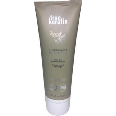 True keratin Moroccan Miracle Blow-Dry Smoothing Cream 250ml/8.5oz