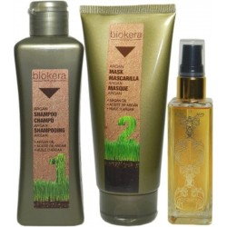 Salerm Biokera Natura Argan 1)Shampoo 300ml 1)Mask 200ml 1)Arganology 60ml