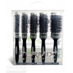 Termix Evolution Basic Case of 5 Hair Brushes (17mm, 23mm, 28mm, 32mm and 43mm)